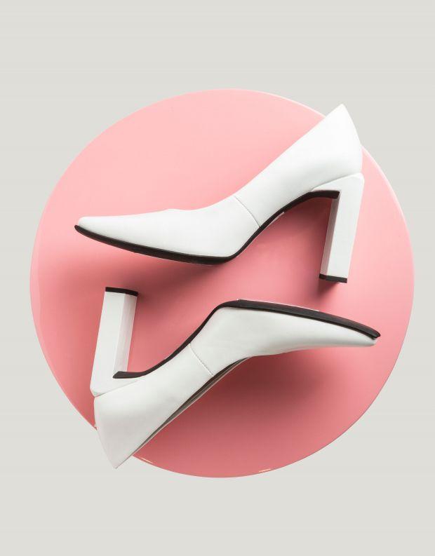 נעלי נשים - Jeffrey Campbell - נעלי עקב EQUINOX - לבן