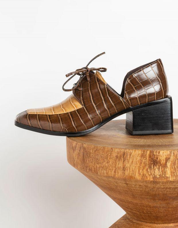נעלי נשים - Jeffrey Campbell - נעלי שרוכים HOMER - חום