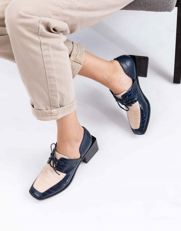 נעלי נשים - Jeffrey Campbell - נעלי שרוכים HOMER - כחול