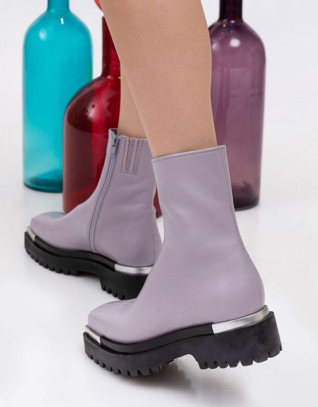 נעלי נשים - Jeffrey Campbell - מגפוני דמוי עור DEVOUT - לילך