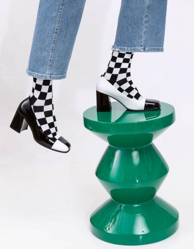 נעלי נשים - Jeffrey Campbell - נעלי עקב MOD MOD - שחור לבן