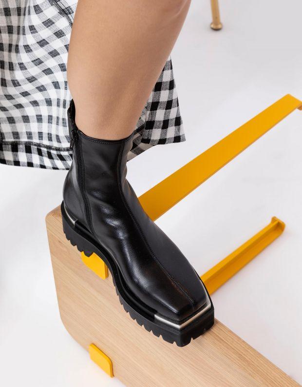 נעלי נשים - Jeffrey Campbell - מגפוני דמוי עור DEVOUT - שחור