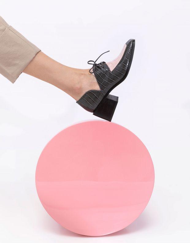 נעלי נשים - Jeffrey Campbell - נעלי שרוכים HOMER - אפור   ורוד