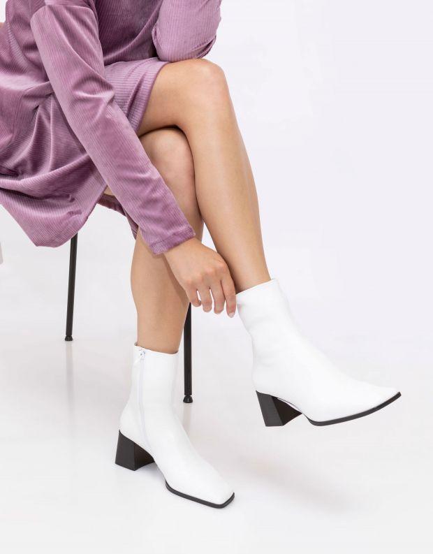 נעלי נשים - Jeffrey Campbell - מגפונים SLIQUE - לבן
