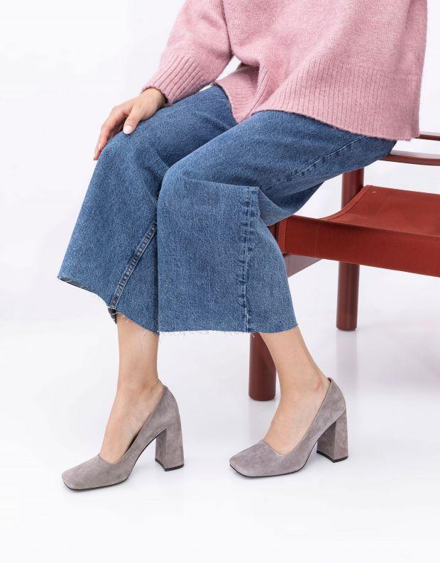 נעלי נשים - Jeffrey Campbell - נעלי עקב VERUSCHKA - אפור
