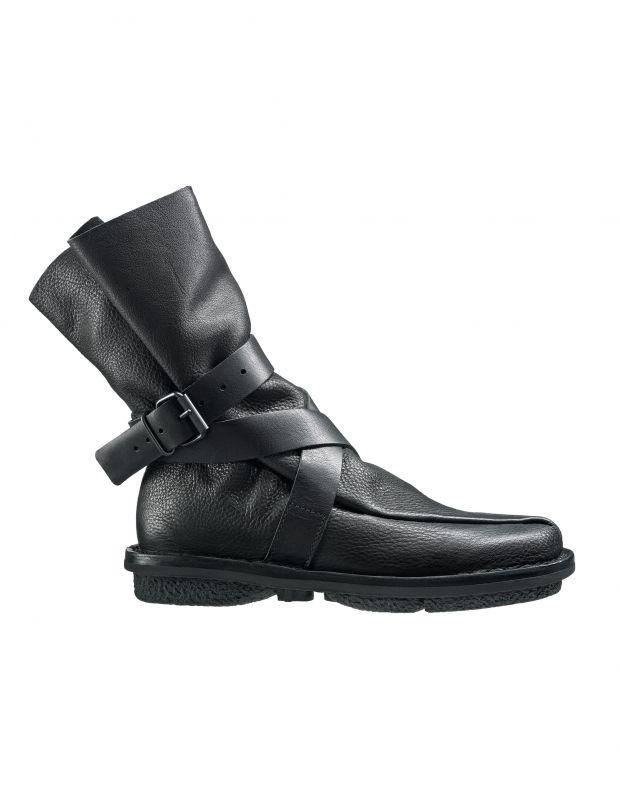 נעלי נשים - Trippen - מגפיים מעור BUNCH CLOSED - שחור