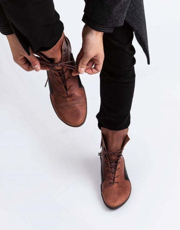 נעלי גברים - Trippen - מגפי עור MIND CUP - קוניאק