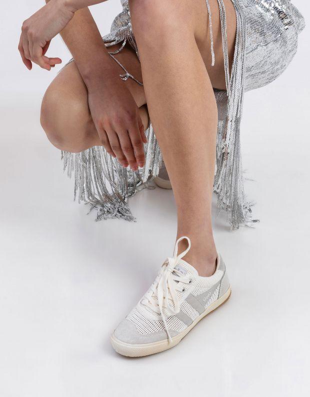 נעלי נשים - Gola - סניקרס BADMINTON WEAVE - לבן   כסף