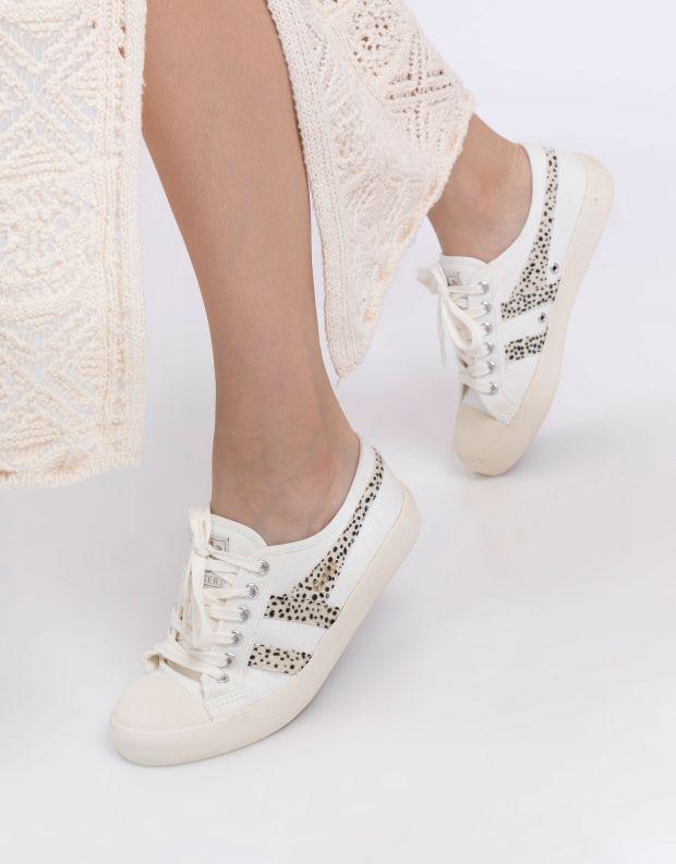 נעלי נשים - Gola - סניקרס COASTER SAFARI - לבן נקודות
