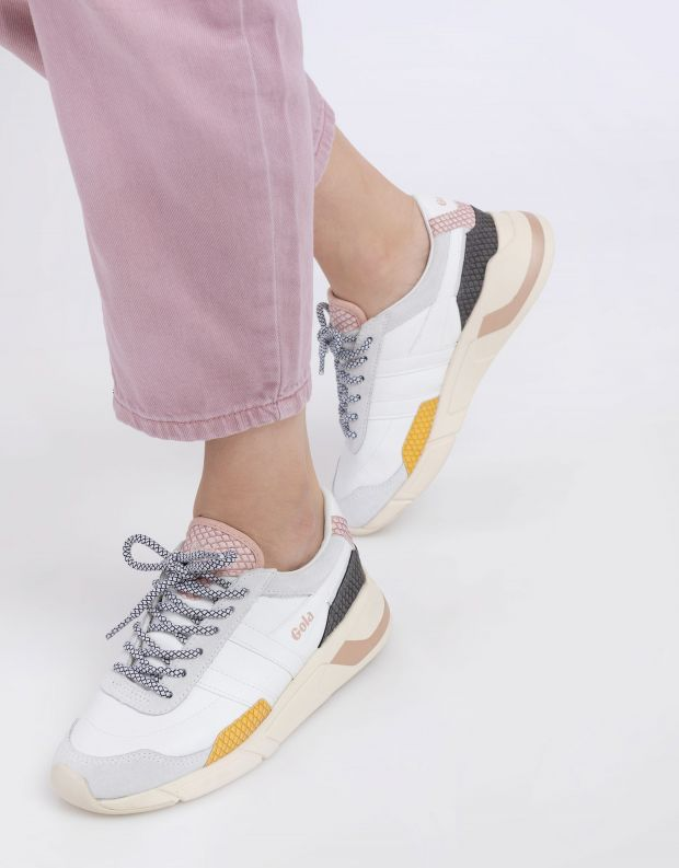 נעלי נשים - Gola - סניקרס ECLIPSE TRIDENT SN - לבן