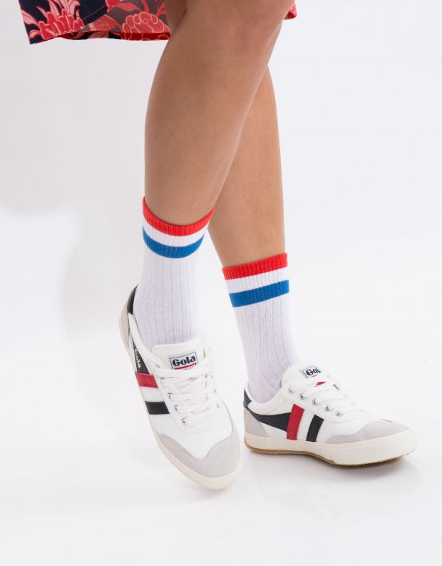 נעלי נשים - Gola - סניקרס BADMINTON - לבן   אדום