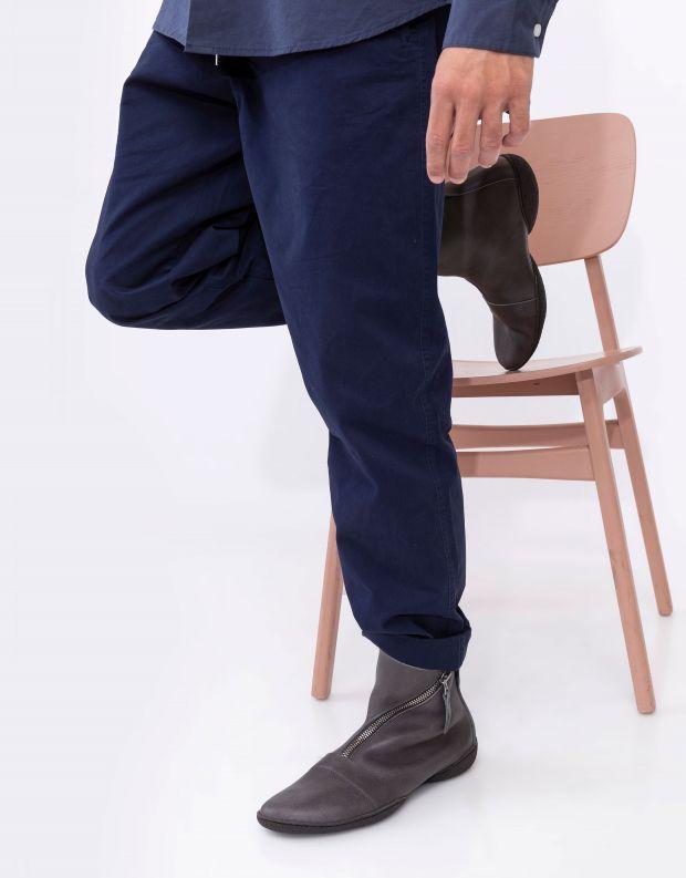 נעלי גברים - Trippen - מגפי עור BERLIN CUP - אפור