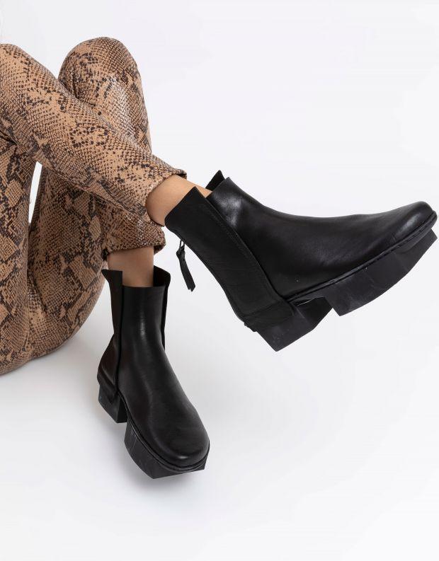 נעלי נשים - Trippen - מגפונים BIN BOX - שחור