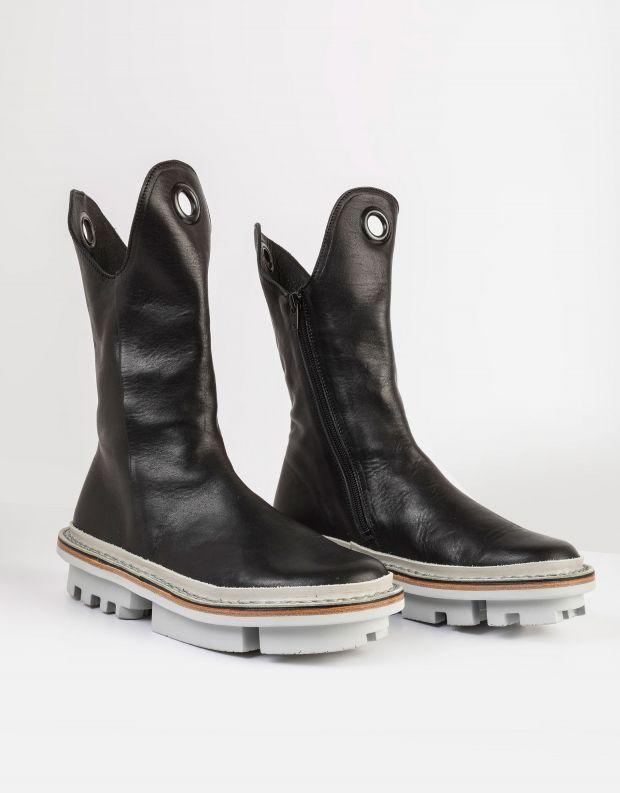 נעלי נשים - Trippen - מגפיים מעור OZZY CLOSED - שחור