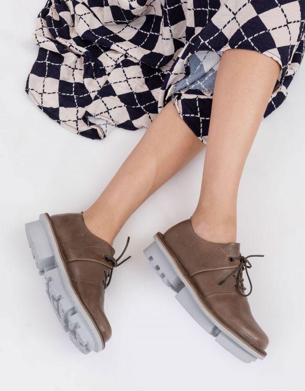 נעלי נשים - Trippen - נעלי עור POSITION CLOSED - חום