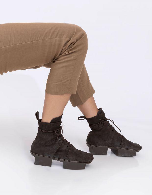 נעלי נשים - Trippen - מגפוני עור OUTCOME BOX - אפור כהה