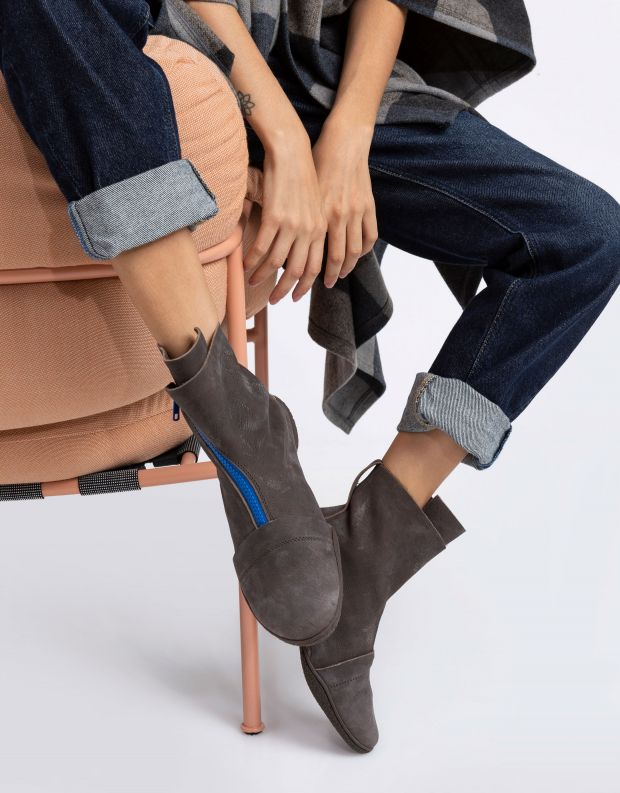 נעלי נשים - Trippen - מגפונים BERLIN CUP צבעוני - אפור   כחול