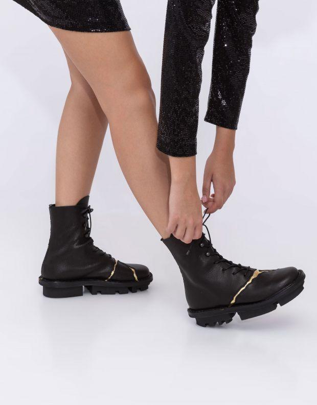 נעלי נשים - Trippen - מגפונים KINTSUGI CLOSED - שחור   זהב