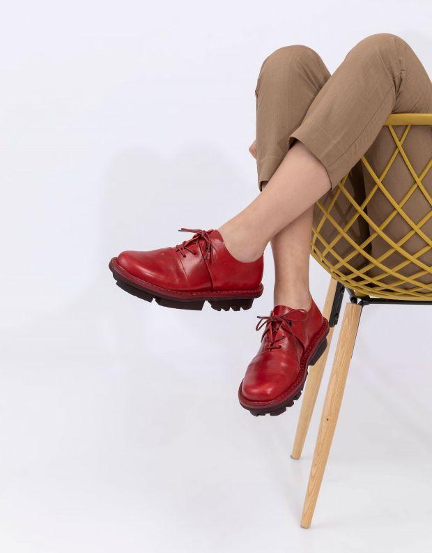 נעלי נשים - Trippen - נעלי עור POSITION CLOSED - אדום