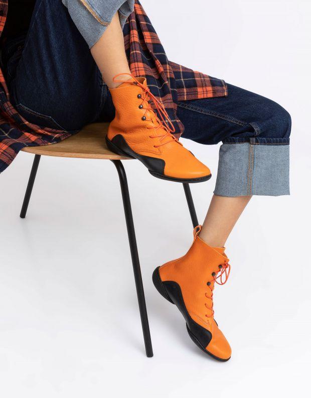 נעלי נשים - Trippen - מגפונים CONCAVE CUP - כתום