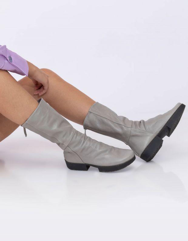 נעלי נשים - Trippen - מגפי עור MODEST SPORT - אפור