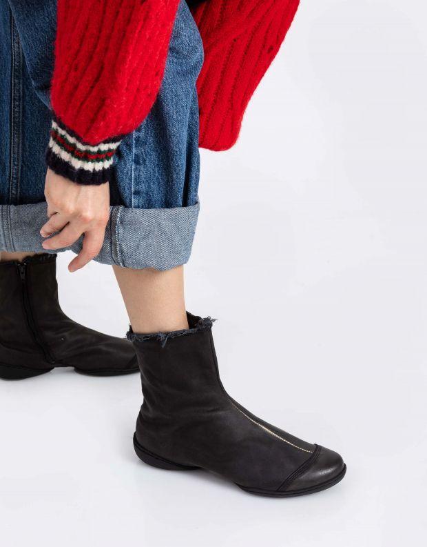 נעלי נשים - Trippen - מגפונים מעור SHADE CUP - שחור