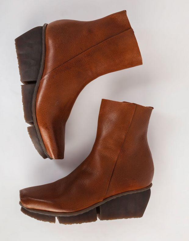 נעלי נשים - Trippen - מגפונים מעור FLAW SPLITT - חום