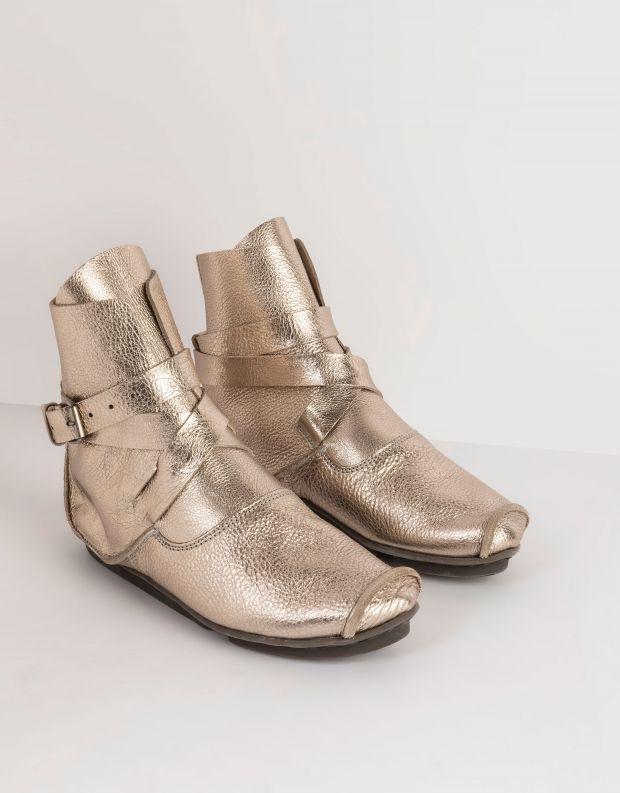 נעלי נשים - Trippen - מגפוני MILD PENNA עם אבזם - פלטינה