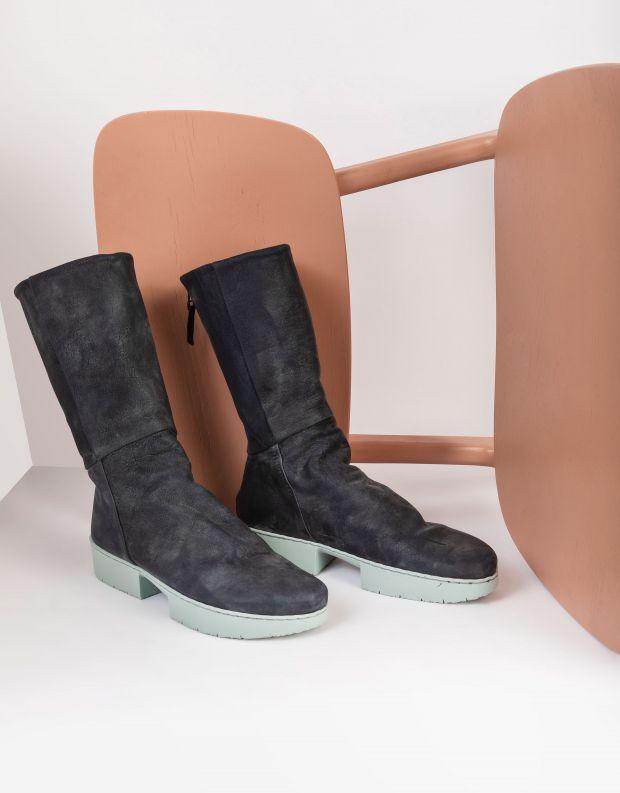 נעלי נשים - Trippen - מגפי עור MODEST SPORT - כחול כהה