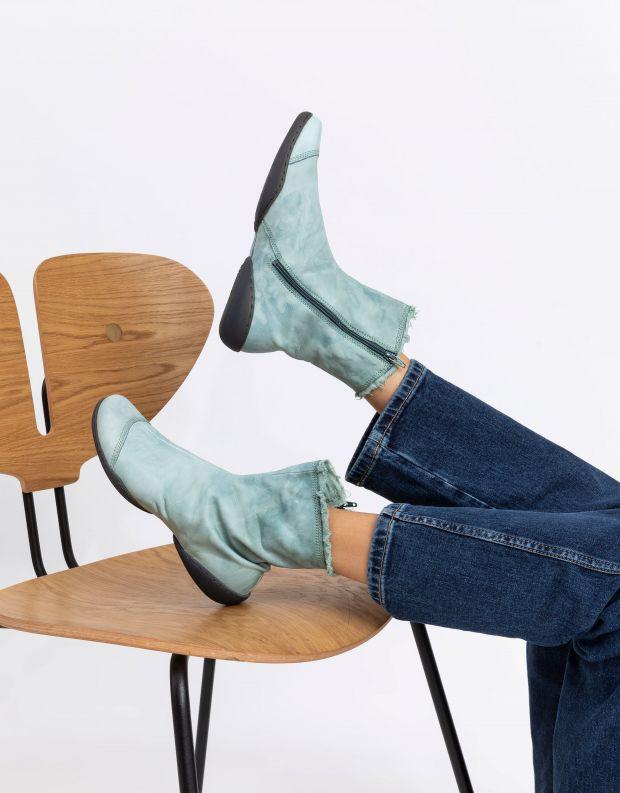 נעלי נשים - Trippen - מגפונים מעור SHADE CUP - טורקיז