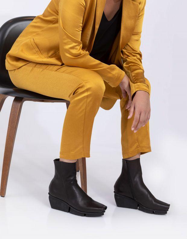 נעלי נשים - Trippen - מגפונים מעור FLAW SPLITT - שחור