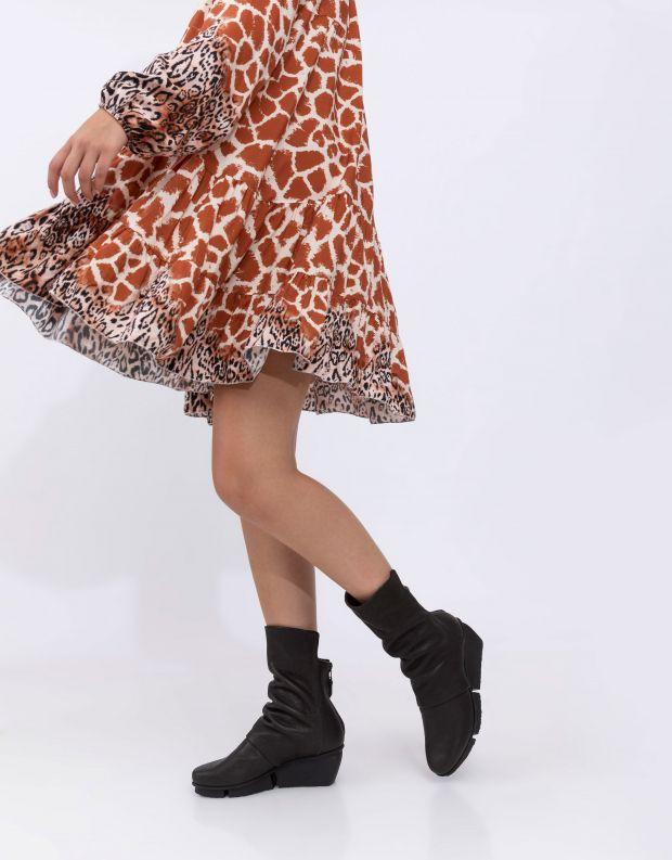 נעלי נשים - Trippen - מגפיים MELLOW SPLITT - שחור