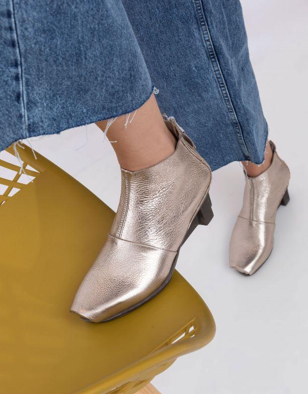 נעלי נשים - Trippen - מגפונים COURAGE XOS - פלטינה