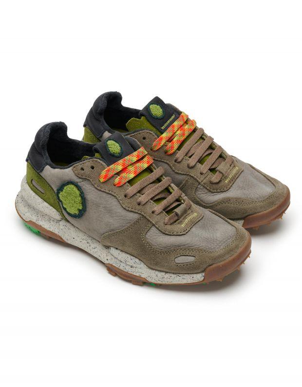 נעלי גברים - Satorisan - סניקרס עור CHACRONA - חאקי