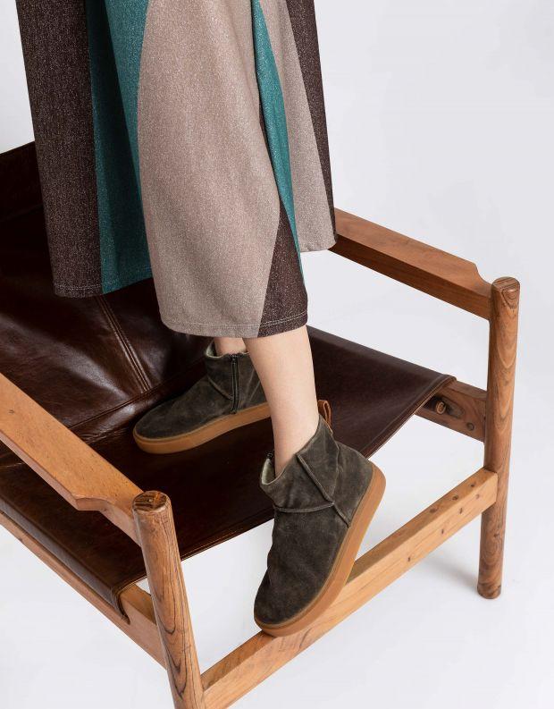 נעלי נשים - Satorisan - מגפוני זמש MERAKI LO - חאקי