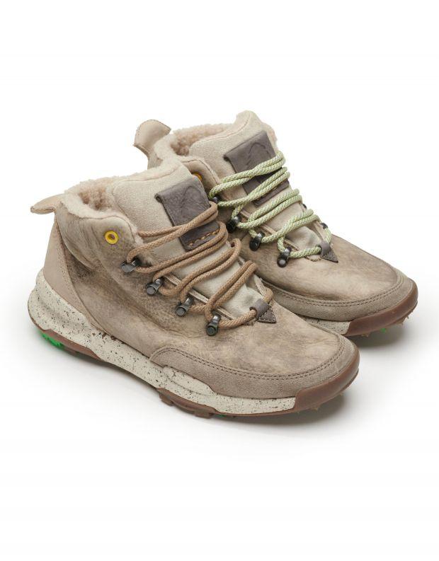 נעלי נשים - Satorisan - סניקרס עור גבוהות KISO - בז'