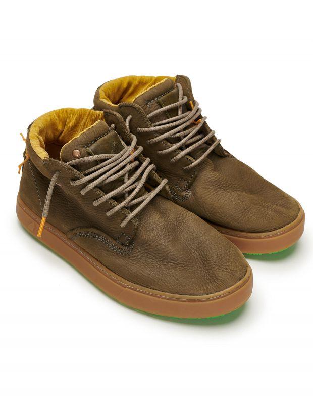 נעלי גברים - Satorisan - נעלי עור WANAKA - חאקי