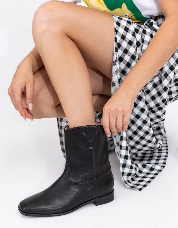 נעלי נשים - SOL SANA - מגפונים שטוחים MATTEO - שחור