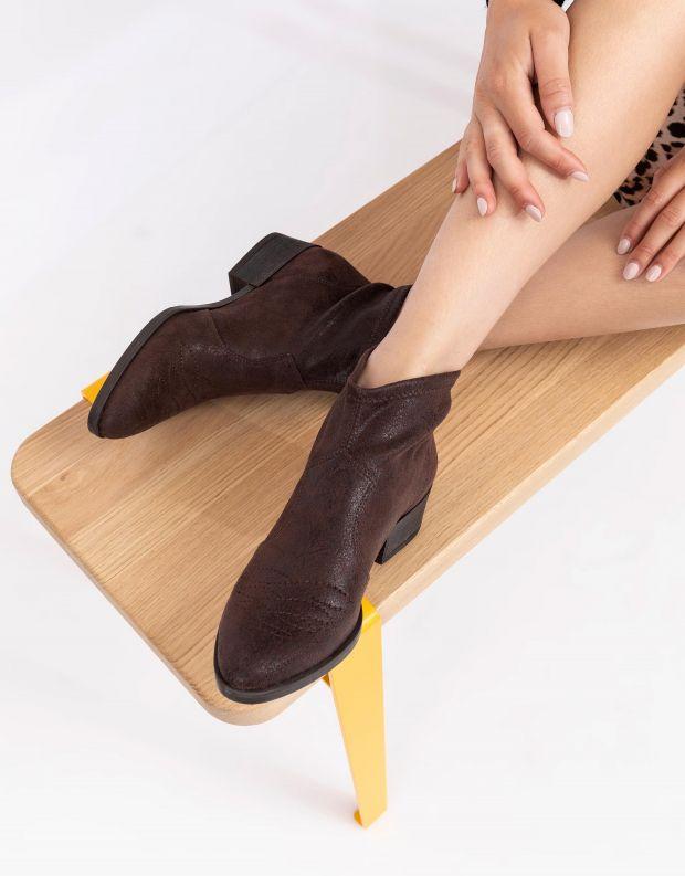 נעלי נשים - NR Rapisardi - מגפונים טבעוניים TANIA - חום כהה