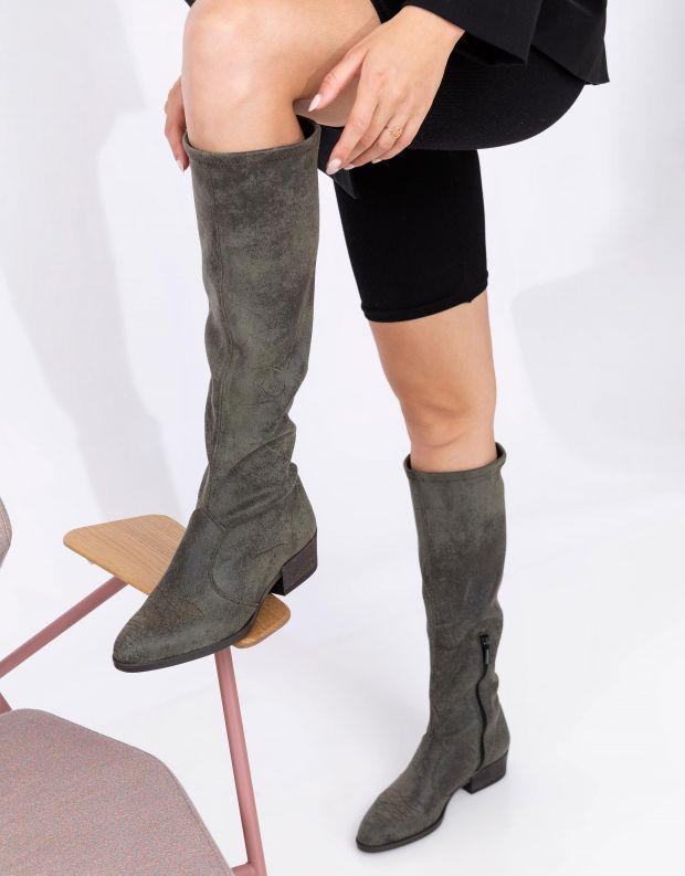 נעלי נשים - NR Rapisardi - מגפיים טבעוניים TECLA - ירוק