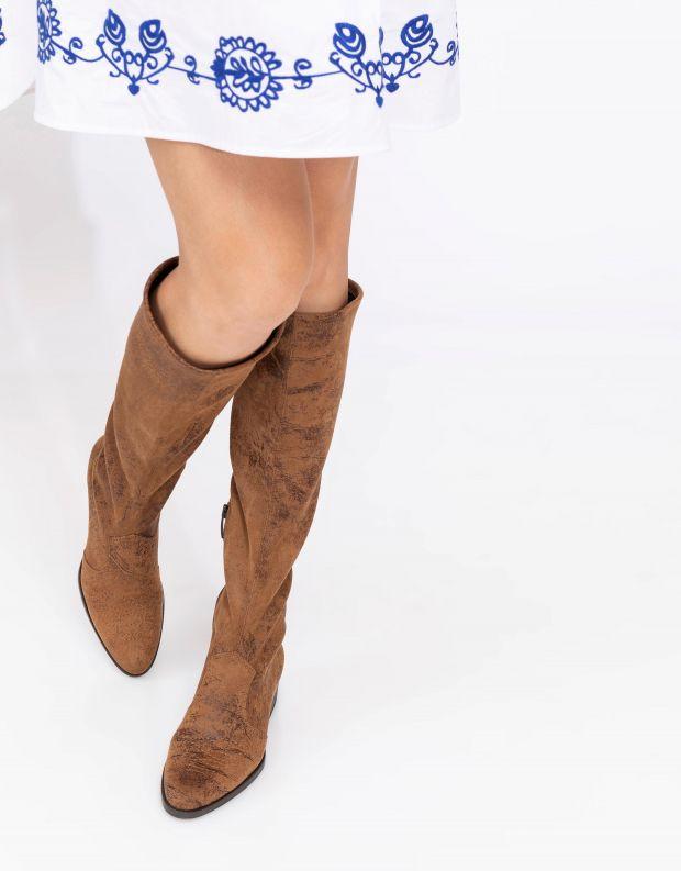 נעלי נשים - NR Rapisardi - מגפיים טבעוניים TECLA - חום בהיר