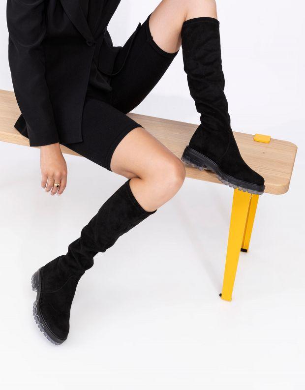 נעלי נשים - NR Rapisardi - מגפיים גבוהים IRA - שחור