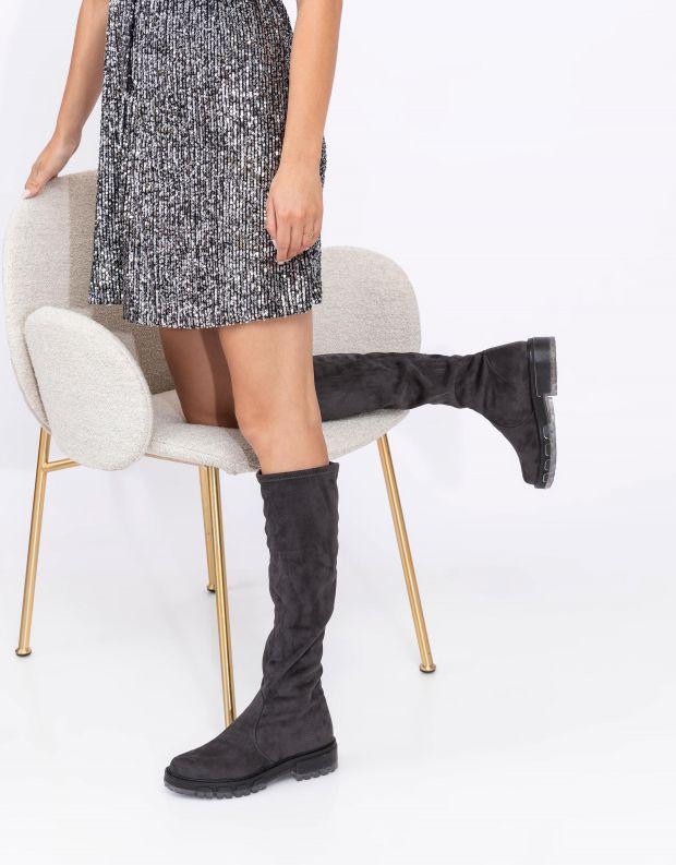 נעלי נשים - NR Rapisardi - מגפיים גבוהים IRA - אפור
