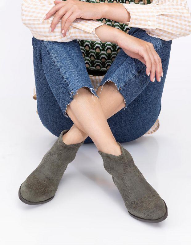 נעלי נשים - NR Rapisardi - מגפונים טבעוניים TANIA - ירוק