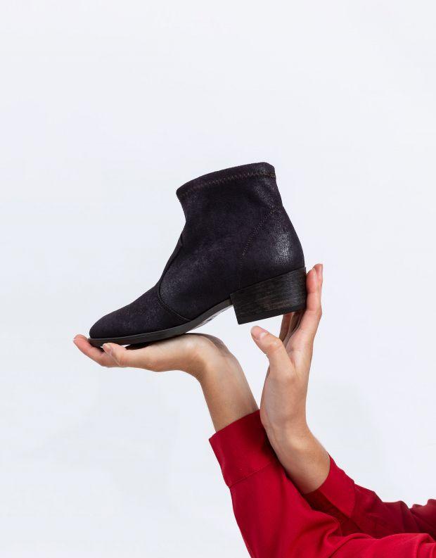 נעלי נשים - NR Rapisardi - מגפונים טבעוניים TANIA - שחור