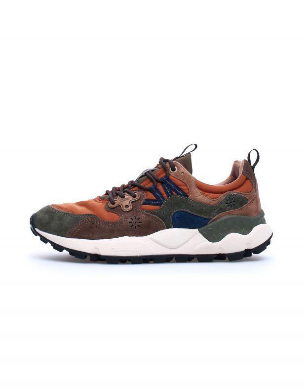 נעלי גברים - Flower Mountain - סניקרס YAMANO 3 - ירוק   כתום