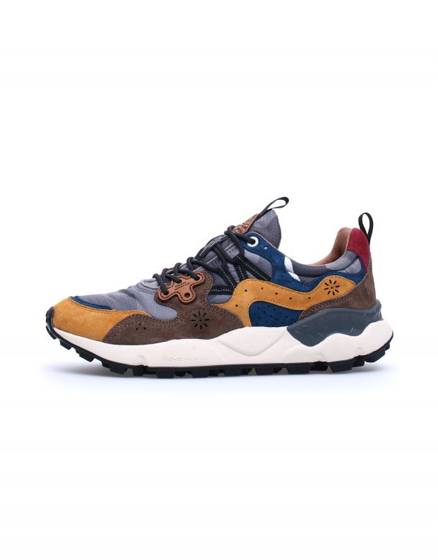 נעלי גברים - Flower Mountain - סניקרס YAMANO 3 - צהוב   כחול