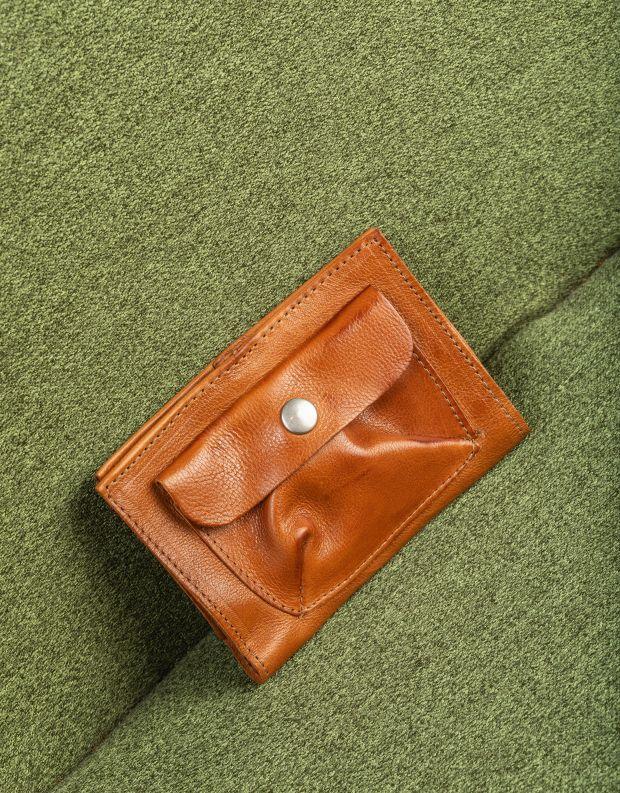 נעלי נשים - A.S. 98 - ארנק עור עם כיס תיקתק - חום