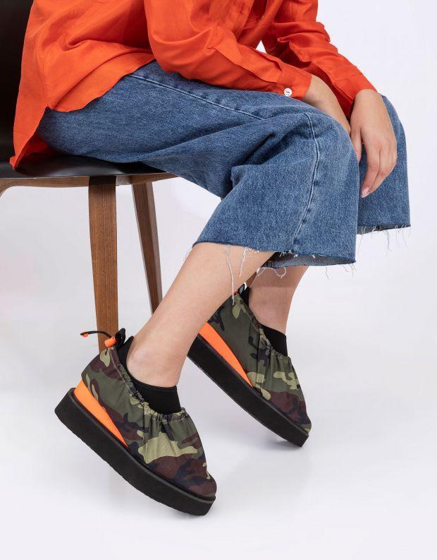 נעלי נשים - United Nude - נעליים COVER CASUAL - ירוק צבאי