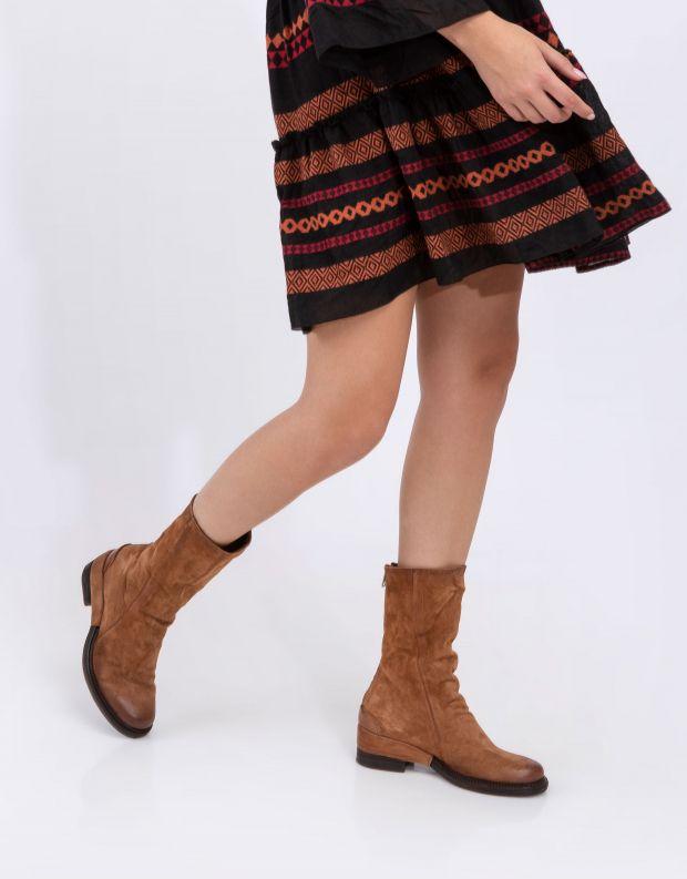 נעלי נשים - A.S. 98 - מגפי עור MIRACLE - חום בהיר